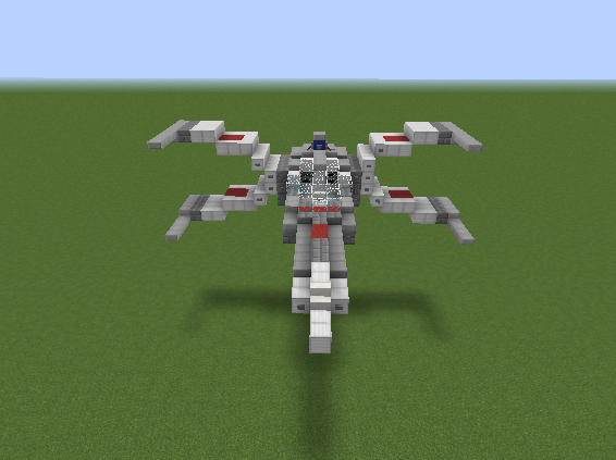 In honor of Star Wars Day, I present my classic X-Wing minecraft ...