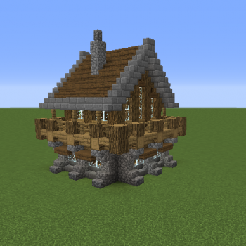Medieval Rustic Log Cabin 1 Grabcraft Your Number One