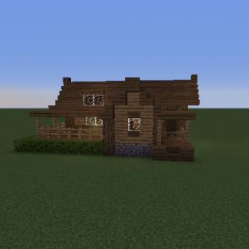 medium simple starter house 2 748 - 49+ Small Cabin Small Minecraft House Ideas Easy Gif