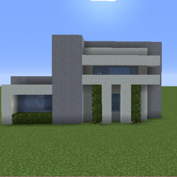 medium small modern house 2 1478 - 16+ Small Modern House Design In Minecraft PNG