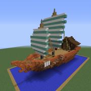 Asian Merchant Sail Ship 1