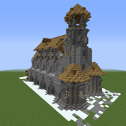 Detailed Medieval Cathedral