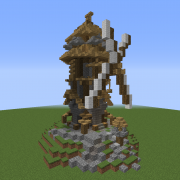 Detailed Medieval Windmill