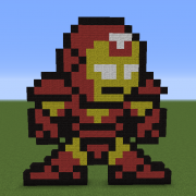 Iron Man Pixel Art