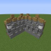 Medieval Detailed Wall Corner Segment 2