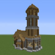Medieval Lighthouse Detailed