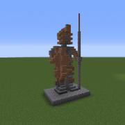 Medieval Spearman Statue