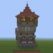Medieval Wall Corner with Guard Tower2 v2