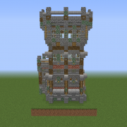 Medieval Wall Corner with Watchtower4 v2