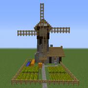 Medieval Windmill Farm House