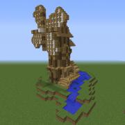 Medieval Windmill Watermill