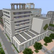 Modern Hospital with Helipad