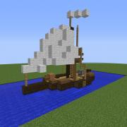Small Fishing Sailing Ship