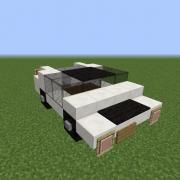 Small White Sport Car