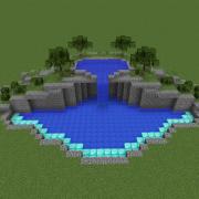 Swimming Pool on 2 levels