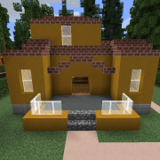 Yellow Suburban House